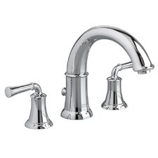 Portsmouth Double Handle Deck Mount Roman Tub Faucet Lever Handle