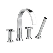 Berwick Tub Filler with Cross Handles and Personal Shower