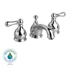 Hampton Widespread Bathroom Faucet with Double Lever Metal Handles