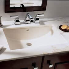 Studio Undercounter Bathroom Sink with Glazed Underside