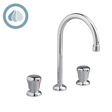 Metering Widespread Gooseneck Bathroom Faucet