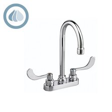 Monterrey Double Handle Centerset Gooseneck Bathroom Faucet with Grid Drain