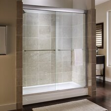 Custom Tuscany Frameless Bypass Shower Door