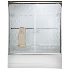 Euro Frameless Bypass Tub Door with Rain Glass