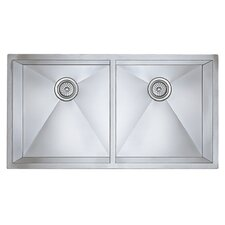 "<strong>Blanco</strong> Precision 37"" x 18"" Large Equal Double Bowl Kitchen Sink"