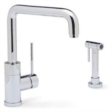 Purus I Single Handle Single Hole Kitchen Faucet  with Metal Side Spray