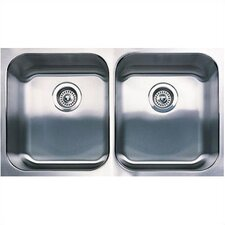 "<strong>Blanco</strong> Spex 31.13"" x 18"" Plus Equal Double Bowl Undermount Kitchen Sink"