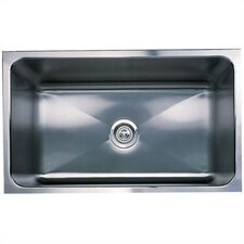 "Magnum 30"" x 18"" Large Single Bowl Undermount Kitchen Sink"