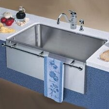 "Magnum 30"" x 18.5"" Large Single Bowl Kitchen Sink with Apron and Towel Bar"
