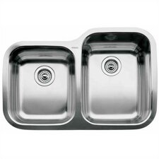 "Supreme 31.31"" x 20.88"" x 10"" Reverse Bowl Undermount Kitchen Sink"
