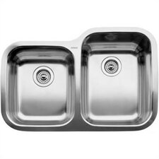 "Supreme 31.31"" x 20.88"" Reverse Bowl Undermount Kitchen Sink"