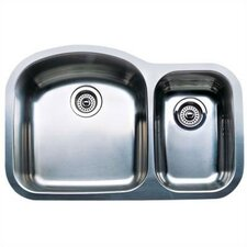 "Wave 31.5"" x 20.88"" x 8"" Plus Bowl Undermount Kitchen Sink"