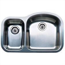"Wave 31.5"" x 20.88"" Plus Reverse Bowl Undermount Kitchen Sink"