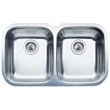 "Niagara 30.63"" x 18.13"" Equal Double Bowl Undermount Kitchen Sink"