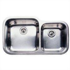 "Supreme 35.44"" x 20.88"" Super Bowl Undermount Kitchen Sink"