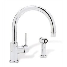 Meridian Single Hole Single Handle Kitchen Faucet with Side Spray