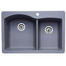 "<strong>Blanco</strong> Diamond 33"" x 22"" Bowl Drop-In Kitchen Sink"
