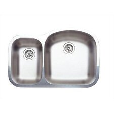 "Norstar 31.5"" x 20.88"" Medium Reverse Bowl Kitchen Sink"