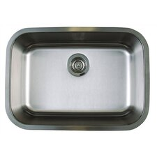 "Stellar 25"" x 18"" Medium Single Bowl Undermount Kitchen Sink"