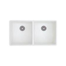 "Precis 29.75"" x 18.13"" x 7.75"" Double Bowl Undermount Kitchen Sink"