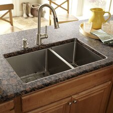 "<strong>Schon</strong> 30"" x 17"" Double Bowl Kitchen Sink"