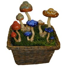 Wavy Cap Mushroom Lawn Ornament Display