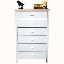 Compressed Wood 6 Drawer Chest