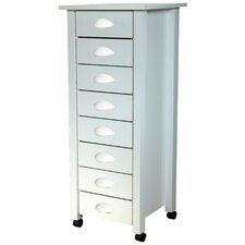 Eight Drawer Mobile Cart