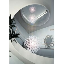 <strong>Studio Italia Design</strong> Lole 3 Light Large Triple Suspended Sphere Fixture with Hand Blown Glass