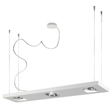 <strong>Studio Italia Design</strong> Zen 5 Light Rectangular Kitchen Island Pendant in Metal with Up and Down Light