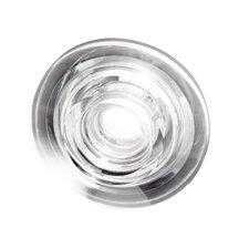 Ice-Twin Flat Round Glass Recessed Fixture with Housing
