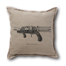 <strong>Museum of Robots</strong> Retro-Futuristic Artifacts Model R.S. Raygun Pillow Cover