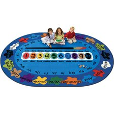 "Bilingual Spanish ""Paint by Numero"" Kids Rug"