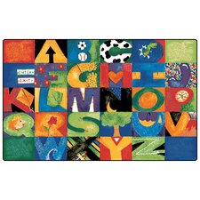 Printed Hide n'Seek ABC Area Rug