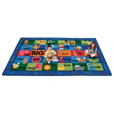 Printed Rhyme Time Area Rug