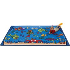 Literacy Alphabet Aquarium Kids Rug