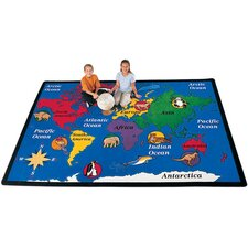 Geography World Explorer Kids Rug