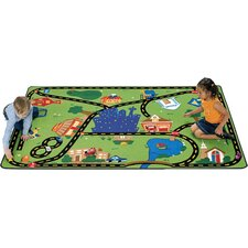 Theme Cruisin' Around the Town Kids Rug