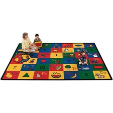 Literacy Blocks of Fun Kids Rug