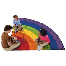 Printed Rainbow Rows Corner Area Rug