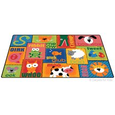 Printed Animal Sounds Toddler Kids Rug