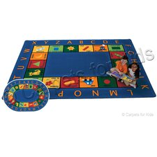 Printed Bilingual Circletime Area Rug
