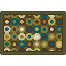 <strong>Carpets for Kids</strong> Calming Circles Nature's Colors Kids Rug