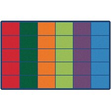 <strong>Carpets for Kids</strong> Colorful Seating Rows Kids Rug
