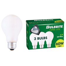 40W 130-Volt (2700K) Incandescent Light Bulb (Pack of 3)