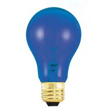 25W Transparent A19 Incandescent Bulb in Blue