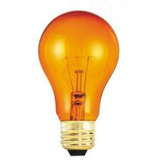 25W Transparent A19 Incandescent Bulb in Orange