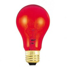 <strong>Bulbrite Industries</strong> 25W Transparent A19 Bulb in Red