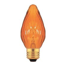 <strong>Bulbrite Industries</strong> 15W Clear Fiesta Style F10 Chandelier Bulb in Amber