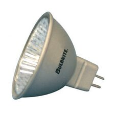 50W Lensed Bi-Pin MR16 Halogen Flood Bulb in Silver